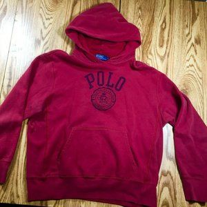 Vintage Polo spellout hoodie Size Xl